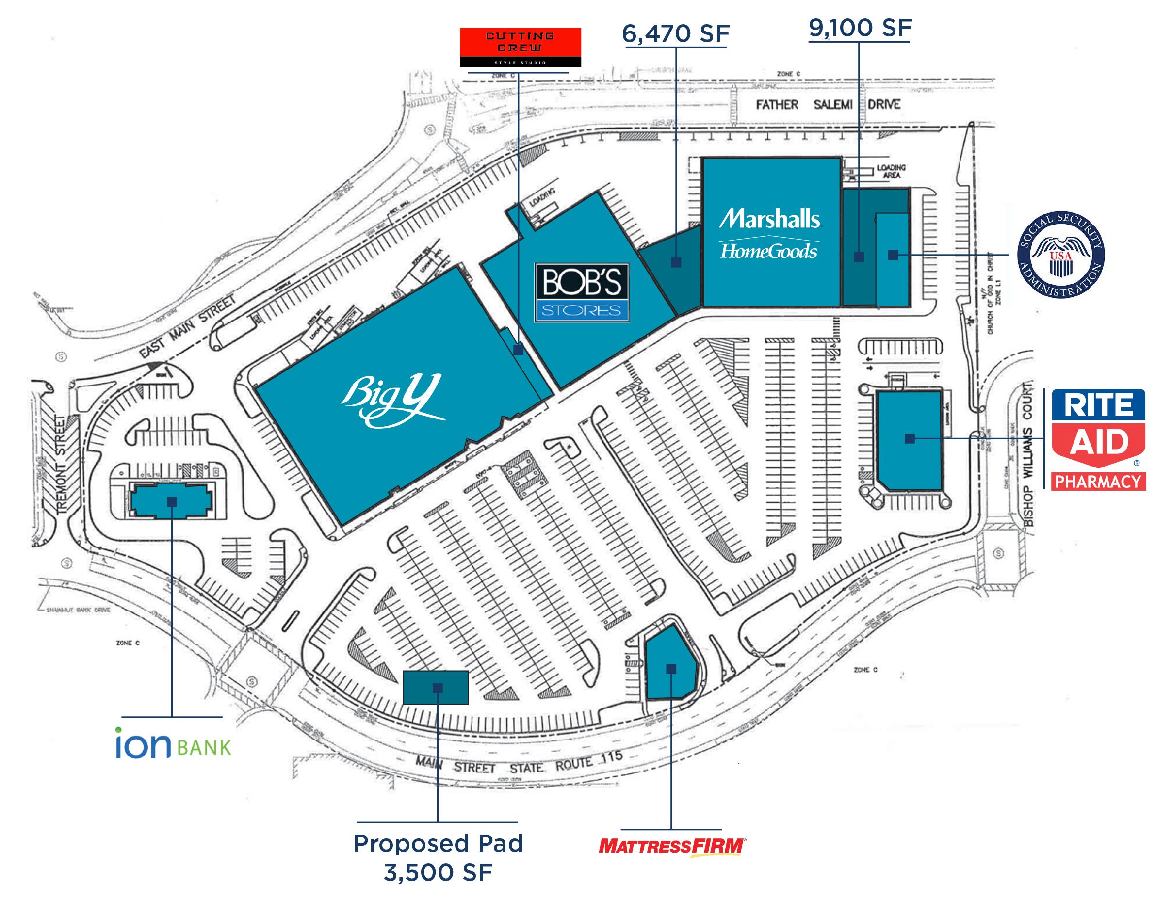 Ansonia Shopping Center, Ansonia, CT